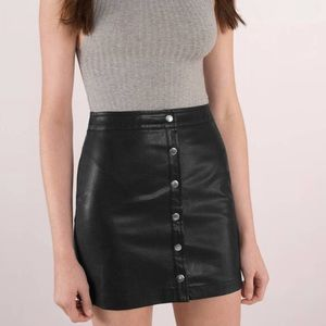 NWT honey bum pleather skirt